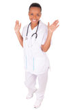 African american woman doctor a over white background Stock Image