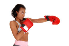 African american woman doing punch. Stock Images