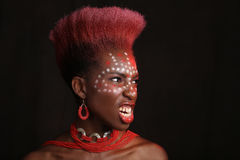 African American Woman With Dramatic Lighting Stock Photos