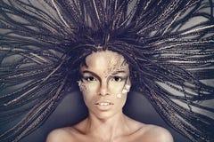 African american woman with dreadlocks Stock Photos