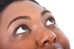 African American Woman Eyes Closeup Stock Photo