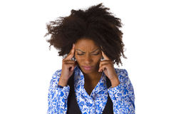African American Woman Feels Sick Stock Image
