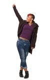 African American Woman with Fist up stock photography