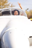 African American woman flying a private plane Royalty Free Stock Photography