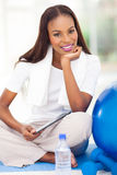 African american woman gym Royalty Free Stock Photo