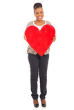 African american woman heart shape Royalty Free Stock Images