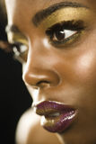 African American Woman With Highfashion Makeup Stock Image
