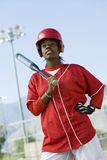 African American Woman Holding Baseball Bat Royalty Free Stock Images
