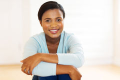 african american woman home Royalty Free Stock Image