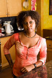 African-American woman in kitchen Stock Photos