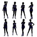 African American Woman Lingerie Silhouette Royalty Free Stock Image