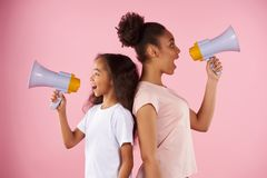 African American woman and little girl stock photography