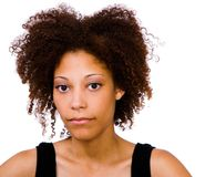 African American woman looking serious Royalty Free Stock Image