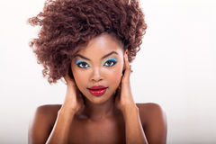 African american woman makeup Stock Image