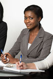 African American woman in a meeting Stock Image