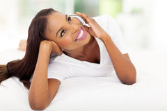 African american woman mobile Royalty Free Stock Photography