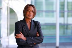 African american woman in office Royalty Free Stock Photos