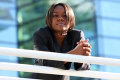 African american woman in office Stock Photography