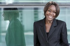 African american woman in office Royalty Free Stock Photography