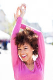 African American woman outdoors Stock Photography
