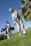 African American Woman Playing Golf Royalty Free Stock Images