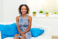African American woman relaxing Royalty Free Stock Photos