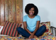 African american woman relaxing indoor at home Royalty Free Stock Photography