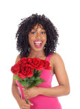 African American woman with roses. Stock Image
