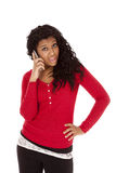 African American woman say what Stock Photography