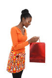 African american woman shopping Royalty Free Stock Photo