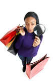 African american woman with shopping bags  Stock Image