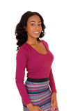 African american woman in skirt. Royalty Free Stock Photo