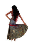 African American woman standing from back. Royalty Free Stock Images