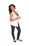 African american woman standing in jeans. Stock Photography