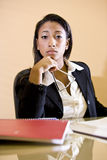 African-American woman studying books Stock Photo