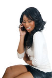 African American Woman talking on the phone Royalty Free Stock Images