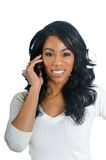 African American Woman talking on the phone Royalty Free Stock Photo