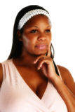 African American Woman Thinkin stock images