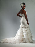 African-American woman in a wedding dress. Young beautiful African-American woman in a wedding dress stock photos