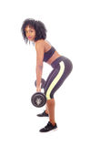 African American woman weight lifting. royalty free stock photos