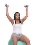African American woman workout Royalty Free Stock Photo