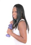 African American woman workout Royalty Free Stock Photography