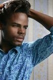 African american young handsome man portrait Royalty Free Stock Photos