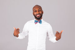 African American young man wearing an Traditional bow tie Stock Image