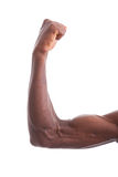 African American young men showing arm muscles Stock Images