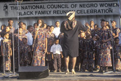 African-American youth choir. Washington D.C Royalty Free Stock Photography