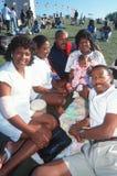 African-Americanfamiljpicknick Royaltyfria Bilder