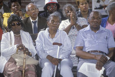 African-Americanpensionärer royaltyfria foton