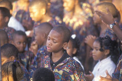 African-Americanungdomkör, Royaltyfria Foton