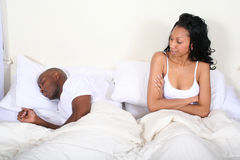 African Amrican Couple in Bed Royalty Free Stock Image